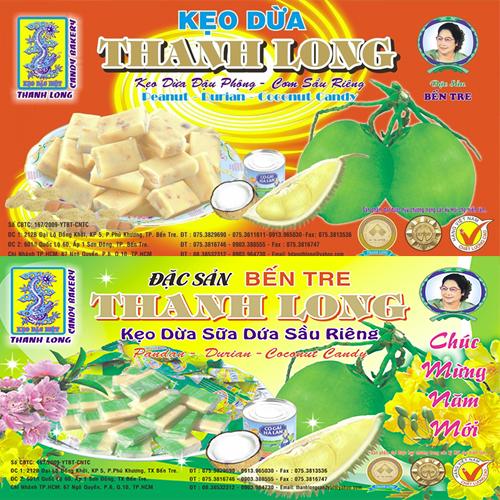 Kẹo dừa Bến Tre có nhân đậu phộng
