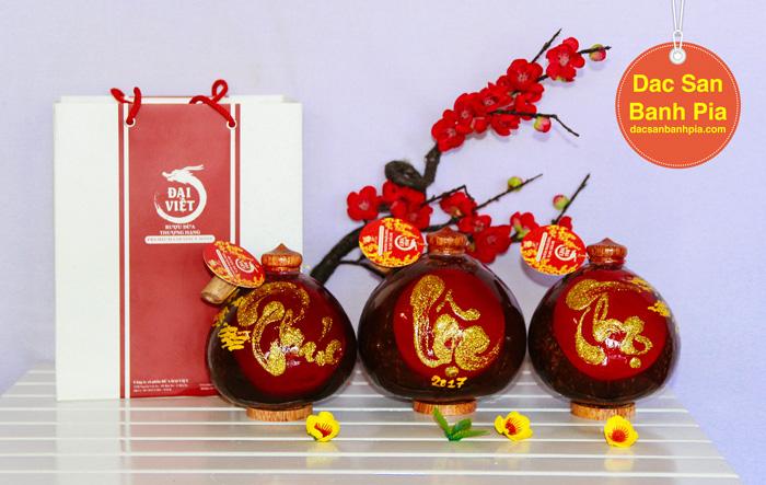 Cặp Rượu Dừa PHÚC - LỘC - THỌ