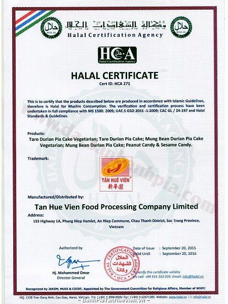 chứng nhận Halal của Malaysia