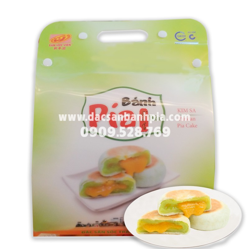 Bánh Pía Kim Sa Lá Dứa túi 3D