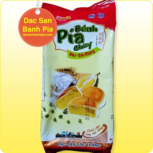 Bánh pía chay đậu sầu riêng (loại lớn)