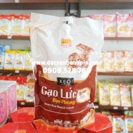 Kẹo gạo lức đậu phộng Tân Huê Viên 250g