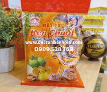 Kẹo chuối cuộn bánh tráng Bến Tre